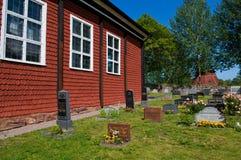 Svensk bygdkyrkogård Fotografering för Bildbyråer