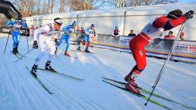 svensk för skier för race för stadsmilan modin Royaltyfri Fotografi