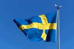 Svensk flagga Royaltyfria Bilder