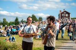 Svensk folkmusikfestival royaltyfri foto
