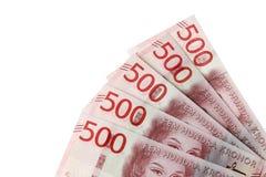 Svensk 500 krona sedlar Fotografering för Bildbyråer