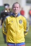 Svensk kvinnlig fotbollmålvakt - Hedvig Lindahl Arkivfoton