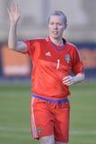 Svensk kvinnlig fotbollmålvakt - Hedvig Lindahl Royaltyfri Fotografi