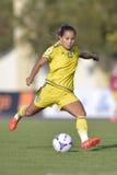 Svensk kvinnlig fotbollsspelare - Malin Diaz Arkivbilder