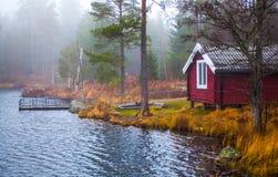 Svensk lakeside Royaltyfri Fotografi
