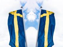 Svensk landsflagga Royaltyfria Bilder