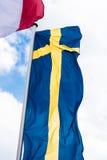Svensk landsflagga Royaltyfri Fotografi