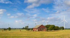 Svensk landspanorama Royaltyfri Fotografi
