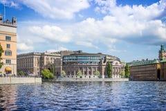 Svensk parlament, Stockholm Royaltyfria Foton