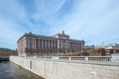 Svensk parlamentbyggnad Royaltyfria Bilder