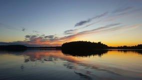 Svensk solnedgång Arkivfoto