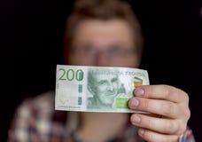 Svensk tvåhundra Krona anmärkning Arkivfoton