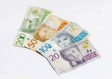 Svensk valuta 20, 50, 100, 200 SEK, ny orientering 2016 Arkivfoto