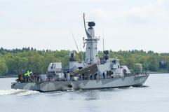 Svenska corvette HMS Sundsvall Arkivfoton