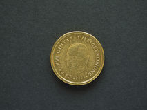 10 svenska Krona & x28; SEK& x29; mynt Arkivfoto