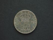 1 svenska Krona & x28; SEK& x29; mynt Fotografering för Bildbyråer