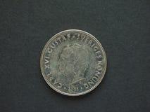 1 svenska Krona & x28; SEK& x29; mynt Arkivfoto