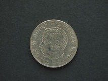 1 svenska Krona & x28; SEK& x29; mynt Arkivbild