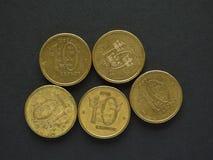 10 svenska Krona & x28; SEK& x29; mynt Arkivfoton