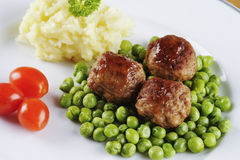 Svenska meatballs Arkivbild