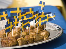 svenska meatballs Royaltyfria Bilder
