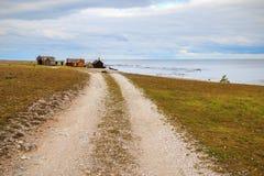 Svenskt fiskeläge fotografering för bildbyråer
