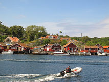 Svenskt fiskeläge, Kosterhavet Royaltyfria Bilder