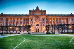 Svenskt hus av parlamentet i Stockholm Royaltyfri Bild