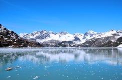 Svepande utsikt för glaciärfjärd Arkivbild