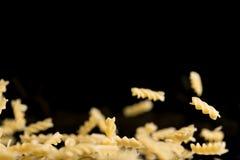 Sveral flying spiral noodles Stock Photo