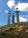 Sverd i fjell (het Engels: De zwaarden in Rots) is een monum Stock Afbeeldingen