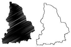 Sverdlovsk Oblast mapy wektor ilustracja wektor