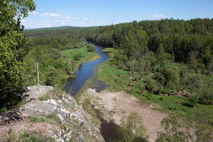 Sverdlovsk region. Russia. Natural park Deer Streams. Stock Photos