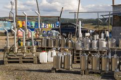 Sverdlovsk region,  Ural, Russia. September 1, 2017. Different nesessary things for auto are selling on the road between cities.  Stock Photo