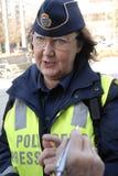 SVERIGE BEKRÄFTAR GRÄNSKONTROLL I DAG PÅ NOO Royaltyfri Fotografi