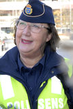 SVERIGE BEKRÄFTAR GRÄNSKONTROLL I DAG PÅ NOO Royaltyfria Foton