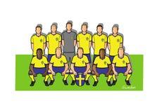 Sverige fotbollslag 2018 stock illustrationer