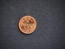 Sverige-Krona die Münze 2 Schwedischer Krone lokalisierte lizenzfreie stockfotos
