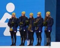 Sverige krullande lag Arkivfoto