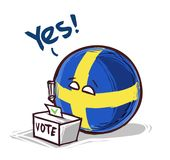 Sverige som ja röstar vektor illustrationer