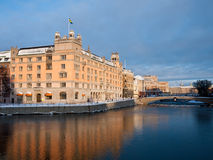 Sverige. Stockholm Rosenbad slott Arkivbild