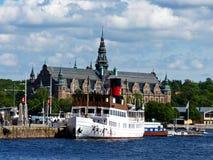 Sverige Stockholm, sikt av staden och dess slottar Royaltyfri Foto
