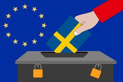 Sverige valurna för de europeiska valen royaltyfria foton