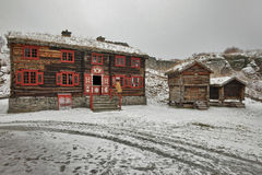 Sverresborg民族志学村庄 免版税图库摄影