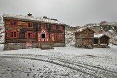 Sverresborg das ethnographische Dorf Lizenzfreie Stockfotografie