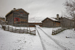 Sverresborg das ethnographische Dorf Lizenzfreies Stockbild