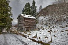 Sverresborg het etnografische dorp Stock Fotografie