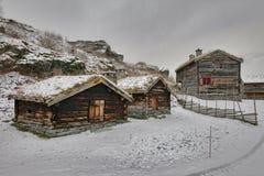 Sverresborg het etnografische dorp Royalty-vrije Stock Foto's