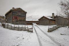 Sverresborg het etnografische dorp Royalty-vrije Stock Afbeelding