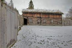 Sverresborg het etnografische dorp Stock Afbeelding